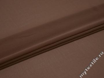 Шифон коричневый полиэстер ГБ619