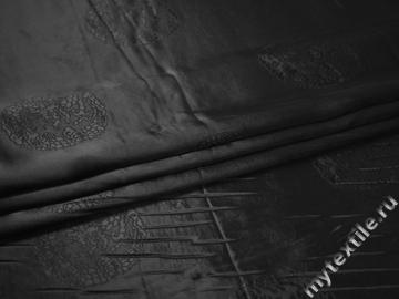 Подкладочная черная ткань вискоза ГА33