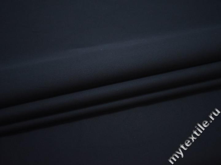 Плащевая синяя ткань хлопок ЕА520