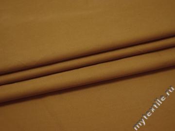 Костюмная коричневая ткань хлопок ЕА515