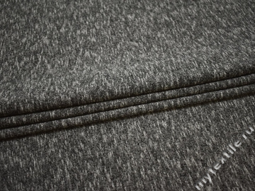 Трикотаж серый хлопок полиэстер АЖ430