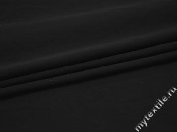Плательная черная ткань вискоза полиэстер эластан БГ429