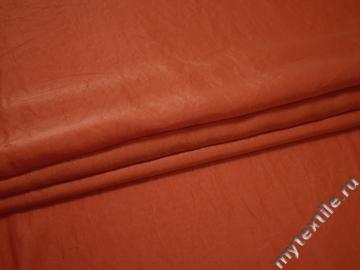 Плательная оранжевая ткань полиэстер БГ428