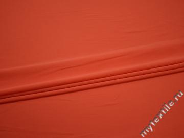 Плательная оранжевая ткань полиэстер эластан БГ43