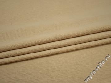 Плательная бежевая ткань полиэстер эластан БГ42
