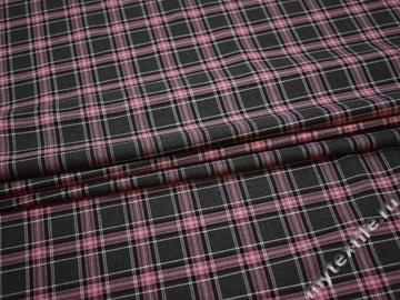 Костюмная серая розовая ткань вискоза полиэстер ВВ374