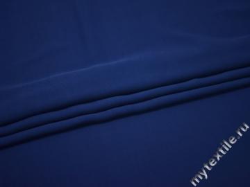 Костюмная синяя ткань вискоза хлопок БД736