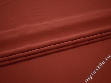 Костюмная терракотовая ткань полиэстер БД751