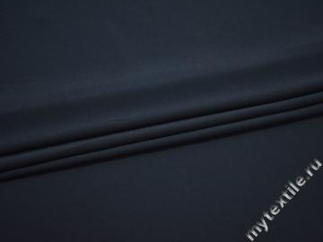 Плательный креп синий полиэстер эластан БД758