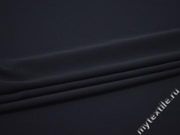 Плательный креп синий полиэстер БД73