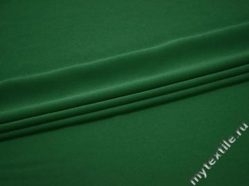 Плательный креп зеленый полиэстер эластан БД722