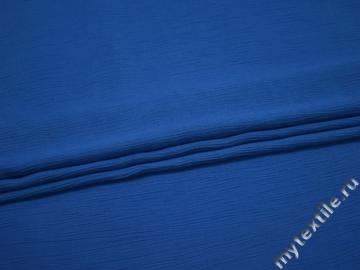 Плательная синяя ткань вискоза хлопок БД754