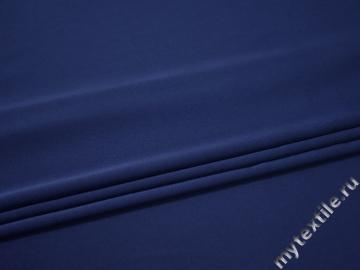 Костюмный креп синий полиэстер БД753