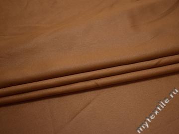 Костюмный креп коричневый полиэстер БД76