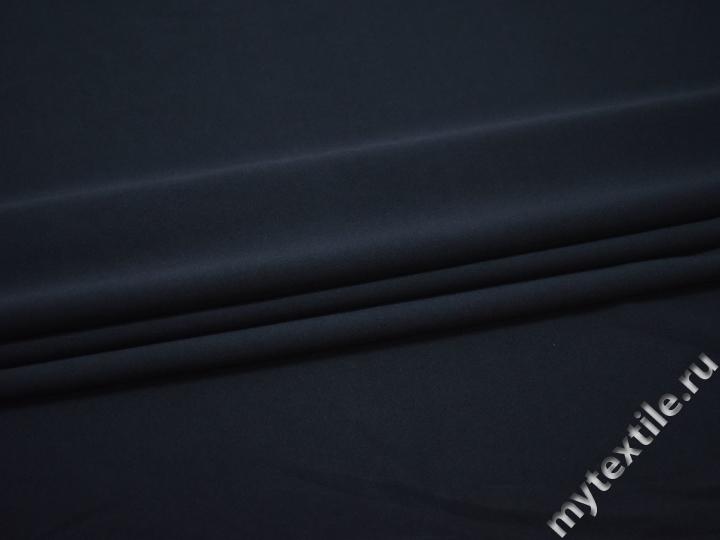 Трикотаж синий полиэстер АК736