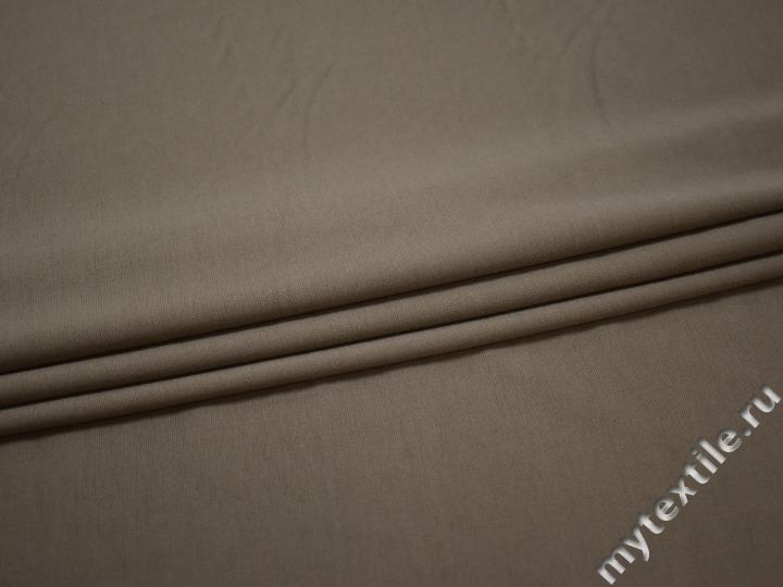 Трикотаж темно-бежевый полиэстер АЛ224