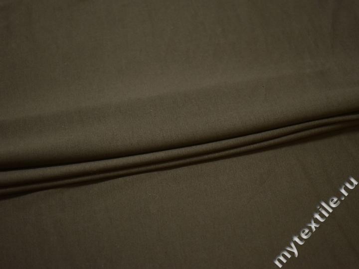 Трикотаж цвета хаки вискоза хлопок АГ725