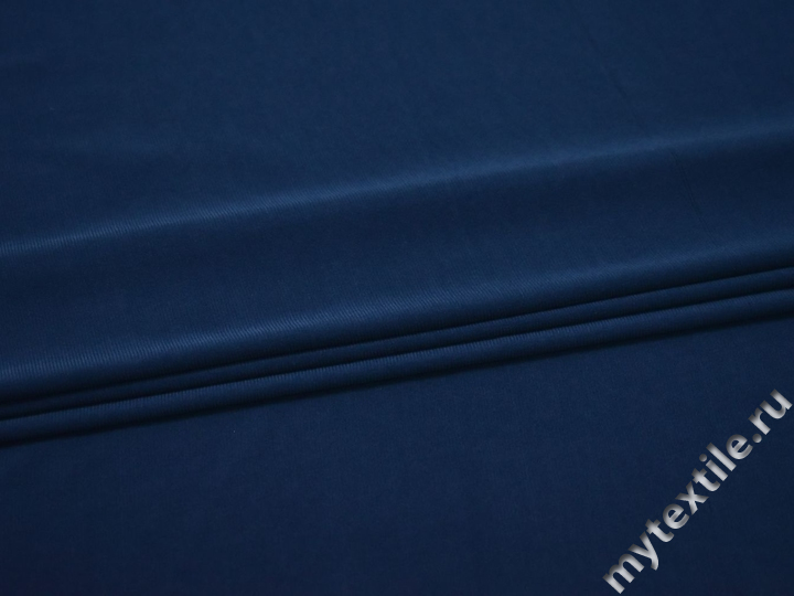 Трикотаж синий полиэстер АГ591