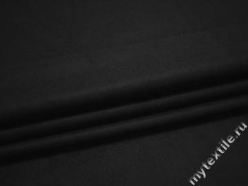 Пальтовая черная ткань полиэстер ГЖ629