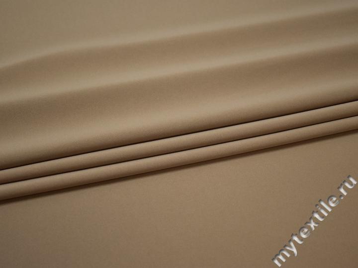 Костюмная бежевая ткань полиэстер эластан ВБ269
