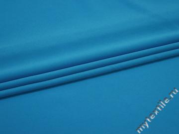 Плательный креп голубой полиэстер эластан ЕВ361