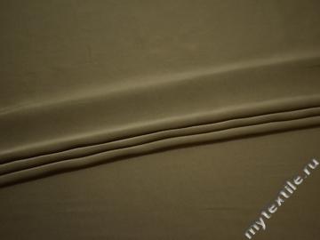 Плательная ткань цвета хаки полиэстер ЕВ351