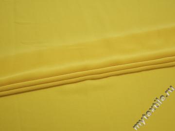 Плательная ткань желтая полиэстер ЕВ345