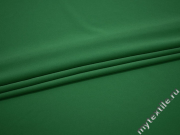 Плательный креп зеленый полиэстер эластан ЕВ350