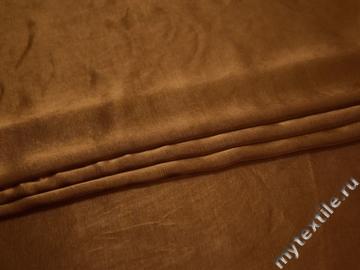 Плательная коричневая ткань вискоза хлопок ЕВ341