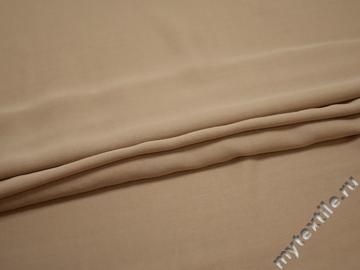 Плательная бежевая ткань вискоза хлопок ЕВ365