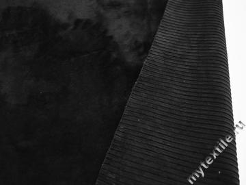 Мех черный полиэстер хлопок ДВ476