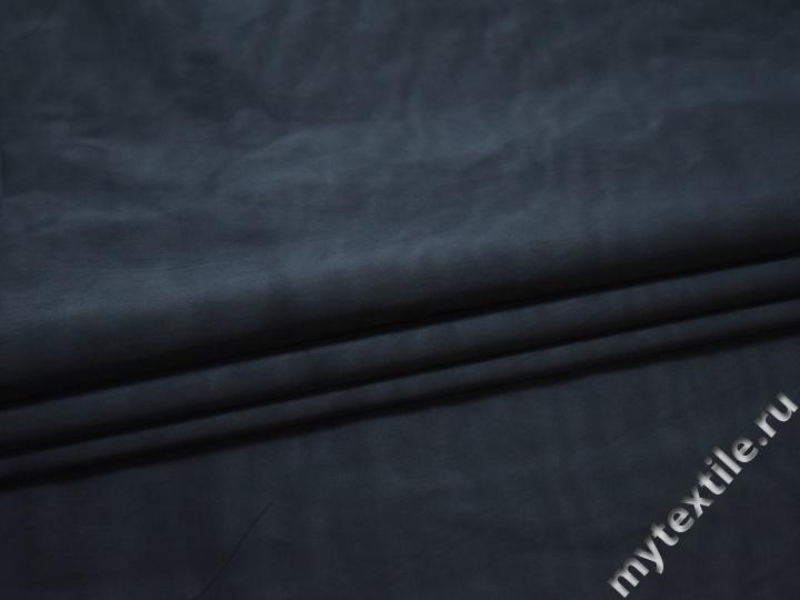 Плащевая синяя ткань полиэстер БЕ1143