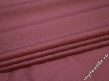 Курточная розовая фактурная ткань полиэстер БЕ366