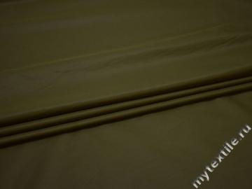 Курточная цвета хаки ткань полиэстер БЕ1150