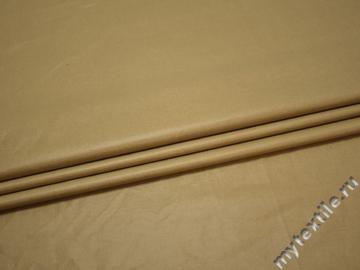 Плащевая бежевая ткань хлопок полиэстер БЕ382