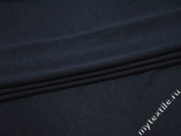 Трикотаж синий шерсть хлопок АВ180