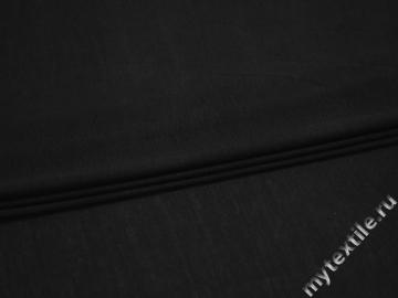 Трикотаж кулирка черный хлопок АВ366