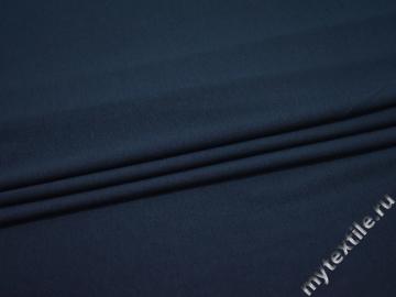 Трикотаж синий хлопок АВ352