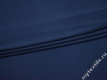 Трикотаж синий хлопок АВ594