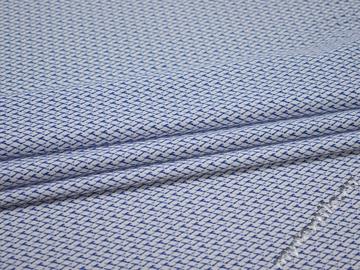 Рубашечная белая синяя ткань хлопок ЕВ557