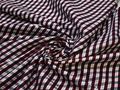 Рубашечная бордовая серая ткань полоска хлопок ЕВ553