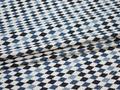 Рубашечная белая голубая ткань геометрия хлопок ЕВ556