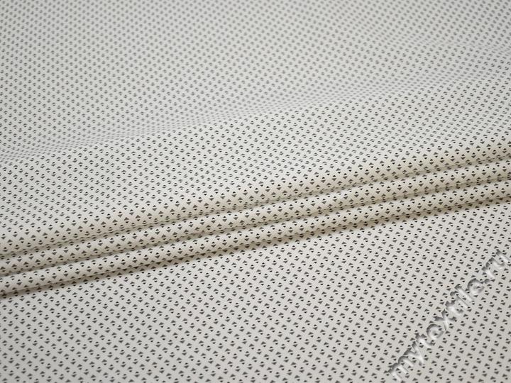 Рубашечная серая белая ткань геометрия хлопок ЕВ533