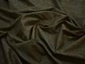 Рубашечная зеленая коричневая ткань цветы хлопок ЕВ536