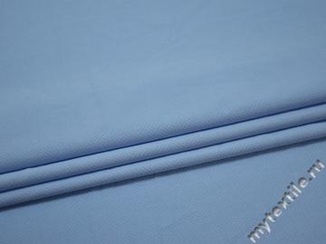 Рубашечная голубая фактурная ткань хлопок ЕВ541