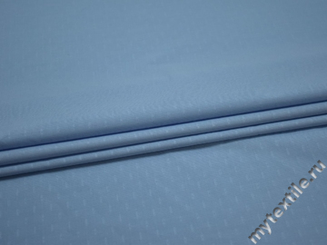 Рубашечная голубая фактурная ткань хлопок ЕВ531