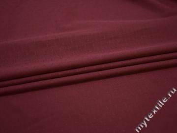 Рубашечная бордовая фактурная ткань хлопок ЕВ528