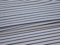 Рубашечная белая синяя ткань полоска хлопок ЕВ545