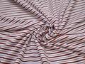 Рубашечная белая синяя ткань полоска хлопок ЕВ544