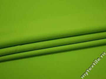 Габардин салатового цвета полиэстер ВБ274